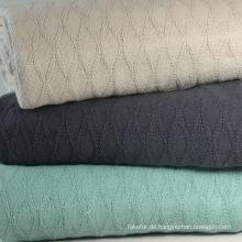 100 % Baumwolle Rautenmuster gewebt Decke CB-1403
