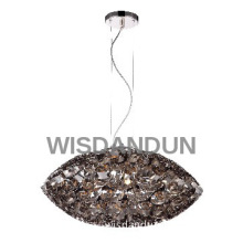 Nickel Modern Pendant Light with big lamp shade