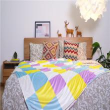 Cobertores lisos impressos personalizados para roupa de cama interna