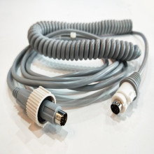 Din Connector High Flexibility Medical Coiled Wire Assembly