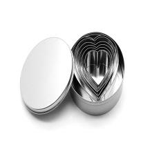 6шт из нержавеющей стали в форме сердца