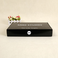 Black corrugated mailing shipping box
