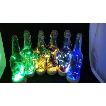 New Design Christmas Glass Bottle With Led Lights