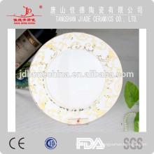 Porcelaine en porcelaine fine en porcelaine EMBOSSED set de vaisselle en or