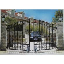 Portão de cerca de ferro forjado de jardim decorativo de ferro