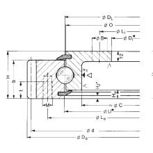 Rothe Erde engrenagem externa Rolamentos de anel de giro flangeados (231.21.0975.013)