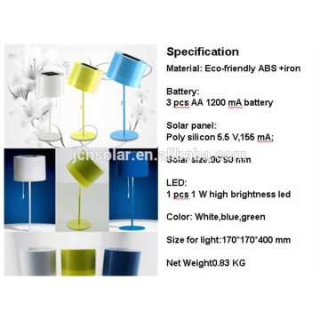 table solar energy light for studying