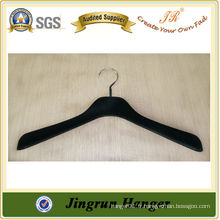 Fourniture expérimentée Black Plastic Hanger Flocked Hanger for Dress