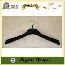 Fornecimento Experiente Black Plastic Hanger Flocked Hanger for Dress