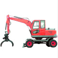 Hot Sell Wheel Wheeled Excavator with hammer breaker Factory Price