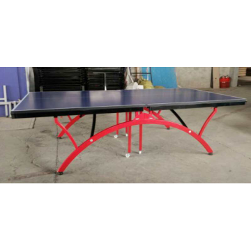 Table de ping-pong pliante arc-en-ciel