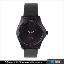 Fresco sentimiento negro relojes mens promoción casual relojes para hombres