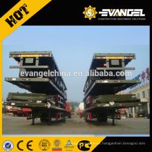 Camión de carga pesada Camión de remolque y remolques de plataforma baja Camión de remolque bajo semirremolque de 70 toneladas
