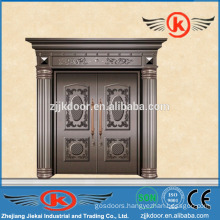 JK-C9024 used exterior antique copper main door double leaf swing door