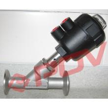 Pneumatic control valves sanitary angle valves