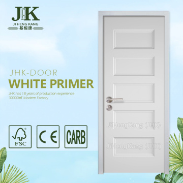 JHK-5 panel Classroom Interior Wooden Door MDF Wood Factory Hemlock Wood Door