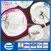 hot selling hotel restanrant China dinner set dinner ware square plates