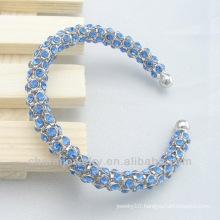 Hot sale Aqua Crystal Fashion Bangle Bracelet