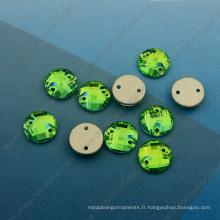 Accessoires de vêtement Peridot Round Stones (DZ-3043)