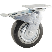 Double Ball Bearing PU Total Brake Type Caster (KHX3-H2)