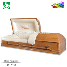 JS-A761 beautiful wood finishes caskets