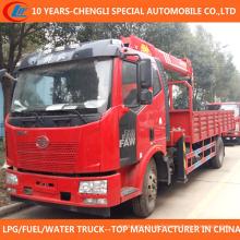 China Superior 6t 7t caminhão com guindaste 4X2 caminhão guindaste