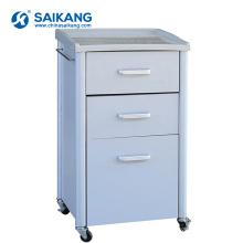 SKS022 3 Cabinets mobiles en acier de chevet de tiroirs pour l'hôpital