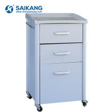 SKS022 3 ящиками стальная передвижная тумбочка для больницы