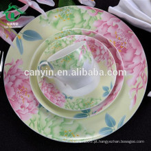 2015 Fashion Drinkware Mão Feito Plain Plain Ceramic Plates Made In China