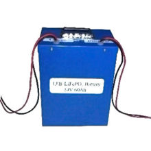 LiFePO4 Rechargeable Battery Pack with 24V Voltage, 60Ah, Used for Electric Car