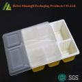 bandejas de comida desechables con tapa microwavable
