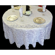 Fancy wedding table cloths,taffeta pinwheel tablecloths