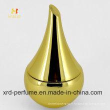 Bouteille de parfum en verre couleur or