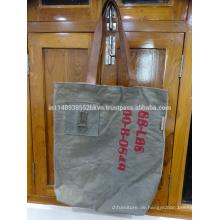 Graue lange Taschen-Tasche