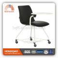 CV-B193BS-2 PU dos et siège en poudre enduit base chaise d'école écrit large chaise de bureau