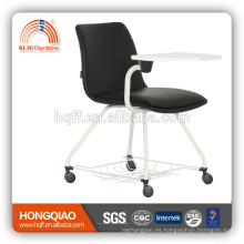 CV-B193BS-2 PU respaldo y asiento de pintura en polvo base silla de la escuela escritura amplia silla de oficina