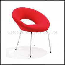 Elegant Round Red Fabric Hotel Lobby Lounge Chair (SP-HC402)