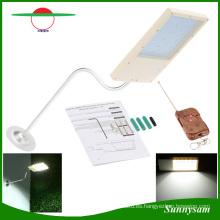 Solar Powered 18 LED luz de calle Sensor de luz automático al aire libre Garden Path Spot Light lámpara de pared de emergencia Luminaria con control remoto