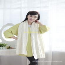 Gris adulto hecho punto acrílico o lana / algodón bufanda fabricantes