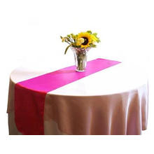 Fuchsia Christmas Elegant Cheap Satin Table Runner