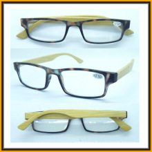 R1515 Vente en gros haute qualité bambou Temple Clear Frame lunettes de lecture