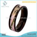 Beaux anneaux de titane roses réels, anneaux de titane promus Camo
