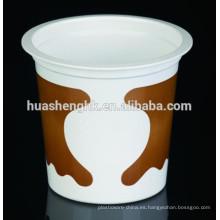 Taza desechable del batido de leche 10oz / 315ml del plástico transparente de la categoría alimenticia del precio de fábrica