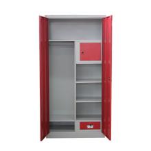 Red Drawer Metal Wardrobe