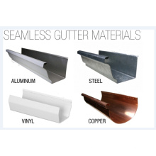China Metal Seamless Gutters for Rain