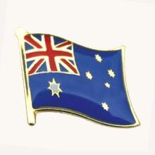 Quality for Cross Flag Pins Official Australia Brass Plating Enamel Lapel Pins export to Japan Exporter