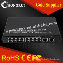 16 canaux cwdm mux / demux + 4 FE + 4rs232 / 422/485 e1 pcm multiplexeur