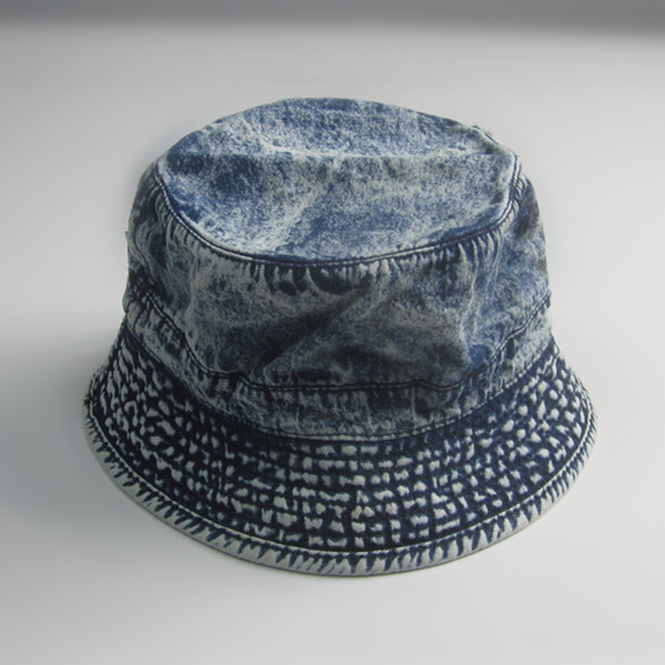 Vintage Washed Denim Blank Bucket Hat