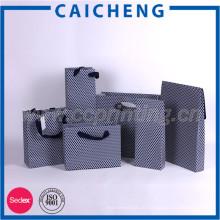 Alça plana, design personalizado, shopping, presente, impresso, papel, kraft, papel, saco