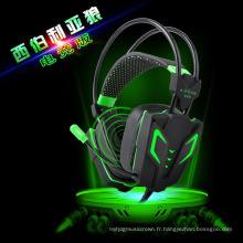 Wired Noise Reduction LED Vibration Gaming Headset pour Gamer (K-13)
